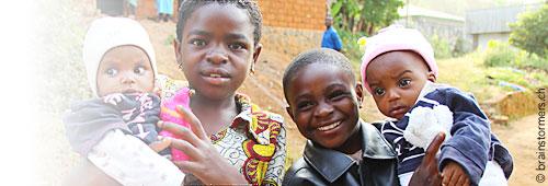 afrikanischen kindern einladen